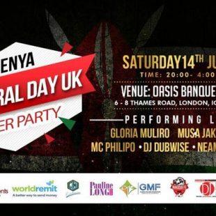 Kenya Cultural Day UK 2018 AFTER PARTY