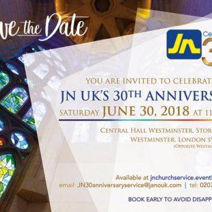 JN UK 30th Anniversary