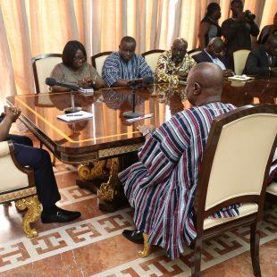 Late major Mahama's family pays courtesy call on Nana Addo