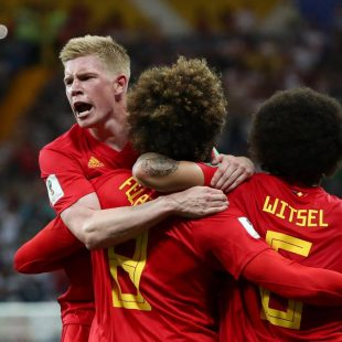Belgium 3-2 Japan: Nacer Chadli breaks Samurai Blue hearts as Red Devils seal comeback win to set up Brazil clash